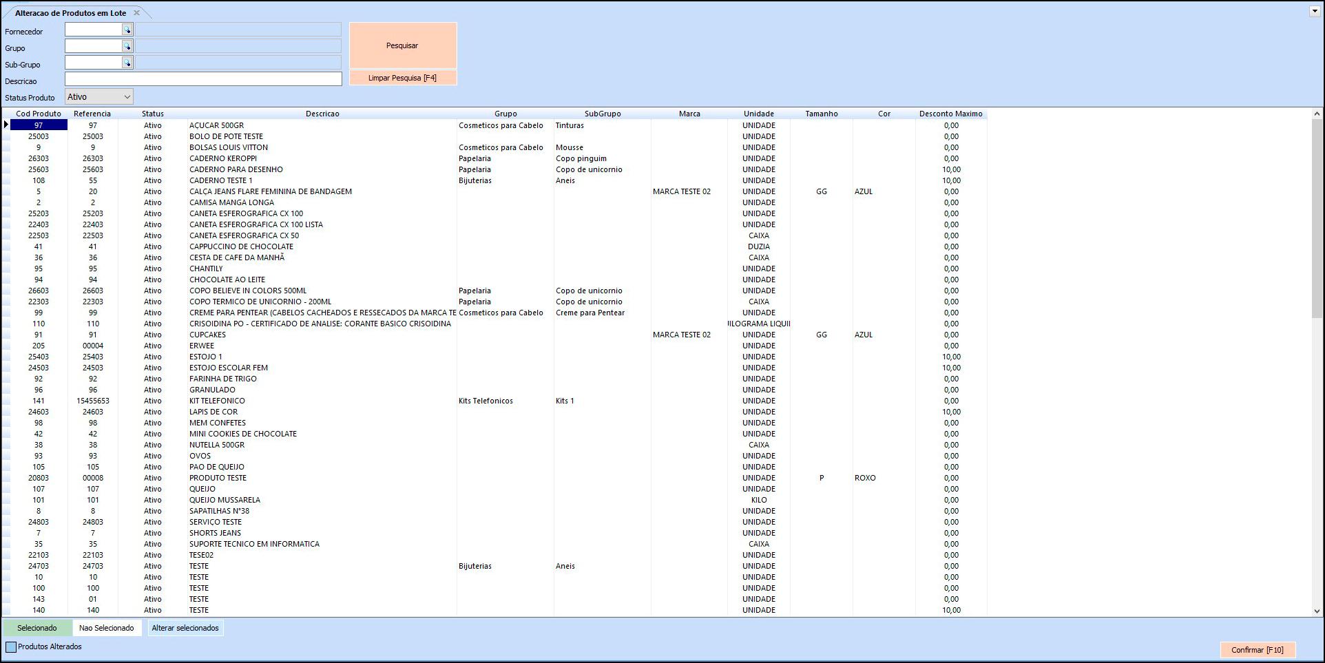 Como Atualizar Produtos em Lote no Futura Server - FS22 01