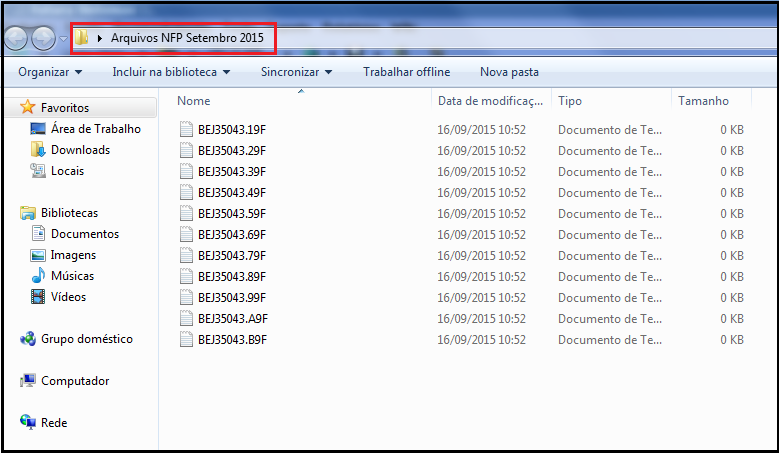 Arquivo NFP - 09
