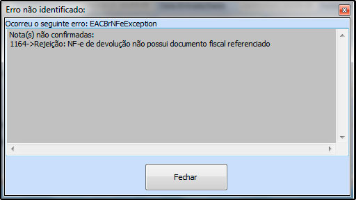 365522597220 Solução: Para emitir uma Devolução de Compra é necessário ter uma Nota  Fiscal de Compra referenciada, ou seja, é necessário importar o XML da  determinada ...