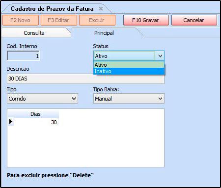 03 - Prazo Fatura - Futura Server