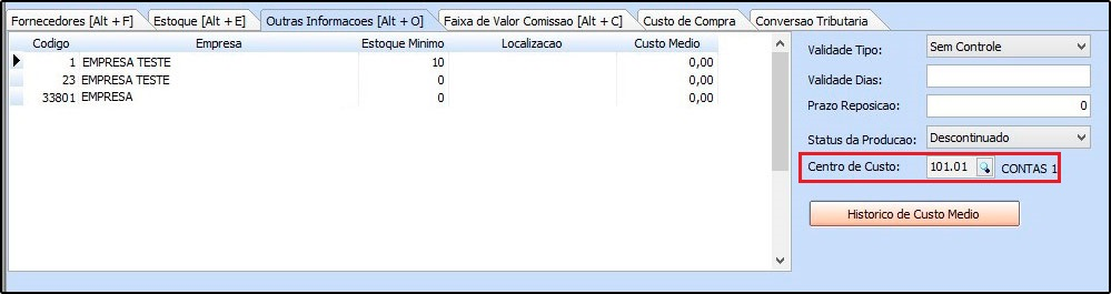 10 - Centro de Custo - Futura Server