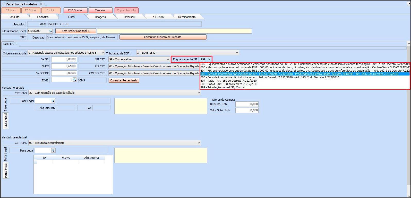 12 - Cad Produto - Futura Server
