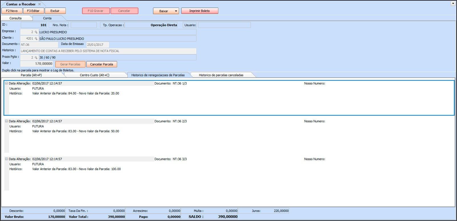 Como funciona a Digitação no Contas a Receber – FS128 - 07