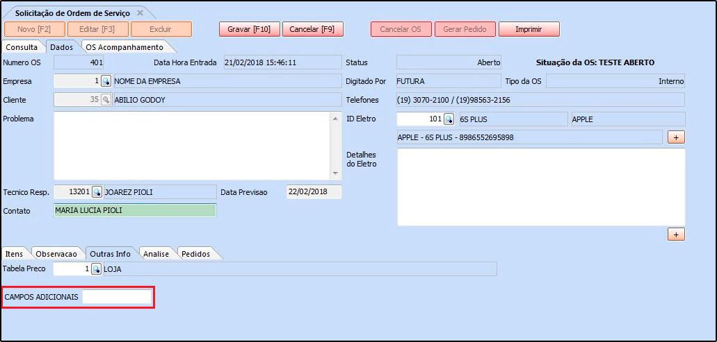 Novo sistema Futura OS (Ordem de Serviço) - 09