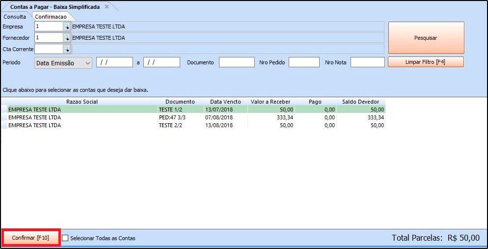 Como utilizar a ferramenta de contas a pagar FAQ40 - 07