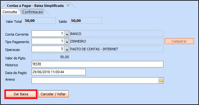 Como utilizar a ferramenta de contas a pagar FAQ40 - 08