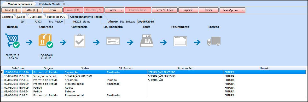Como trabalhar com a rotina de Processo de Vendas no Futura Server - FAQ41 (13)