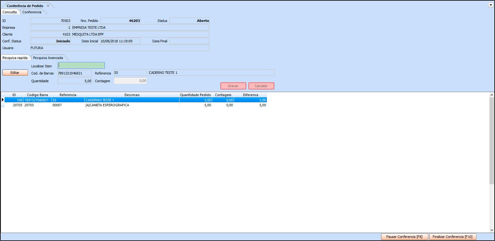 Como trabalhar com a rotina de Processo de Vendas no Futura Server - FAQ41 (15)