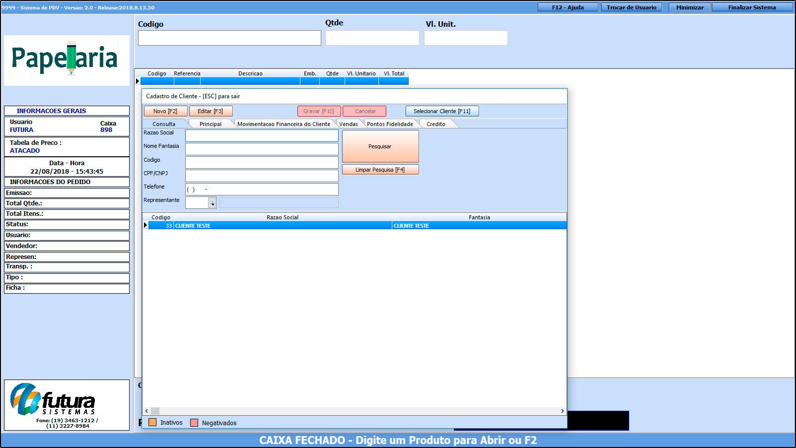 Como trabalhar com o recebimento de contas no Futura PDV – FAQ43 (4)