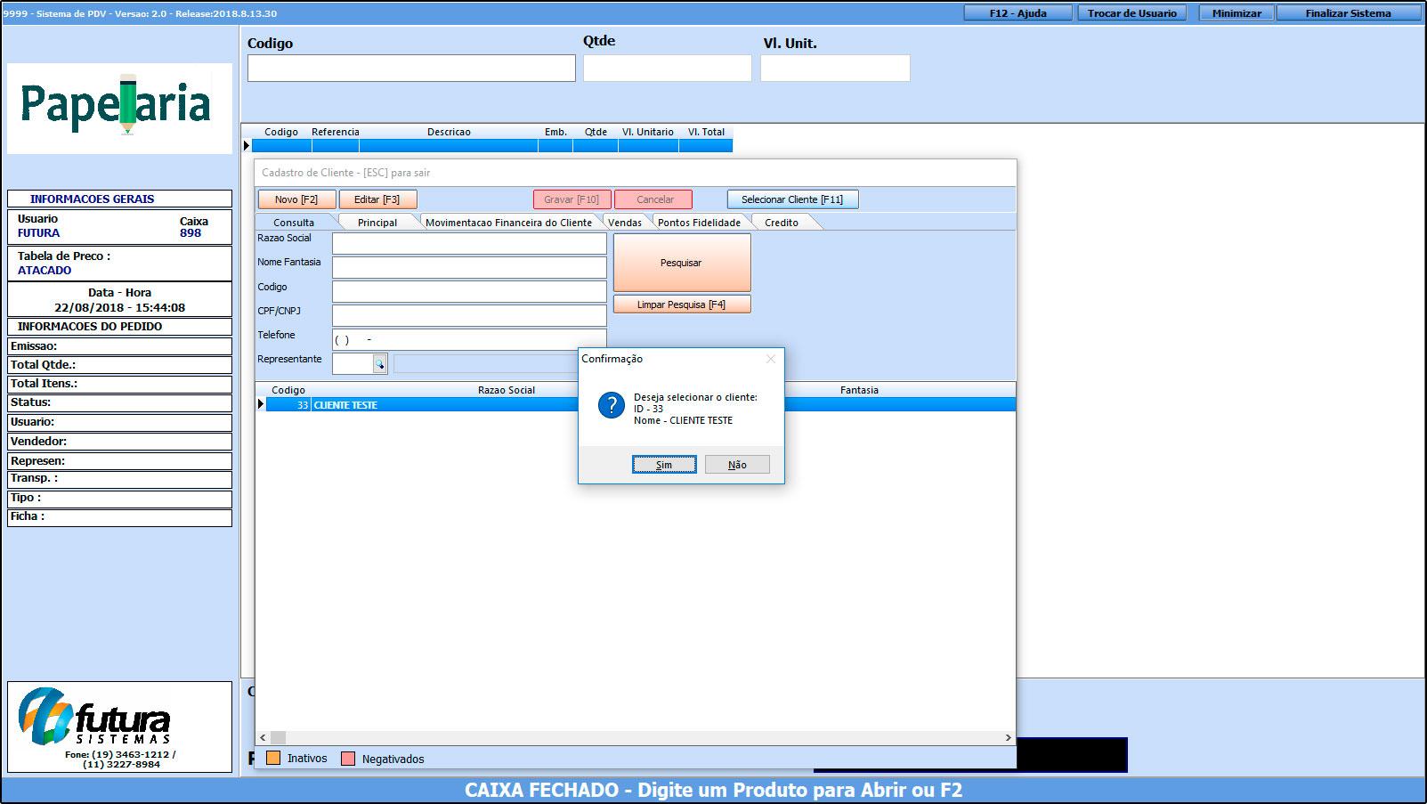 Como trabalhar com o recebimento de contas no Futura PDV – FAQ43 (5)