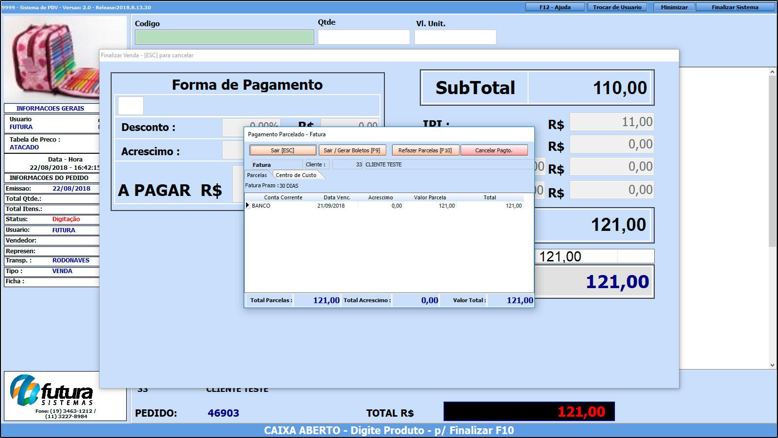 Como trabalhar com o recebimento de contas no Futura PDV – FAQ43 (9)