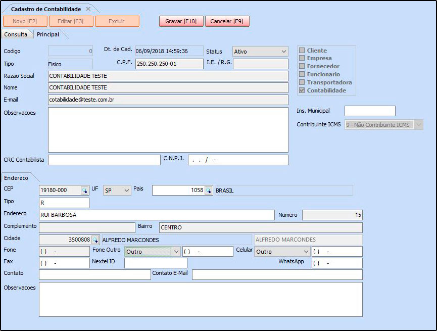 Como Cadastrar a Contabilidade no Futura NFE – FN04.1 -01