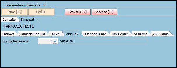 Como funciona o Parâmetros do Futura Farmácia – FFS25 05