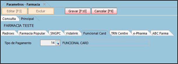 Como funciona o Parâmetros do Futura Farmácia – FFS25 06