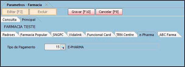 Como funciona o Parâmetros do Futura Farmácia – FFS25 08