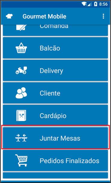 Como juntar mesas através do Gourmet Mobile (1)
