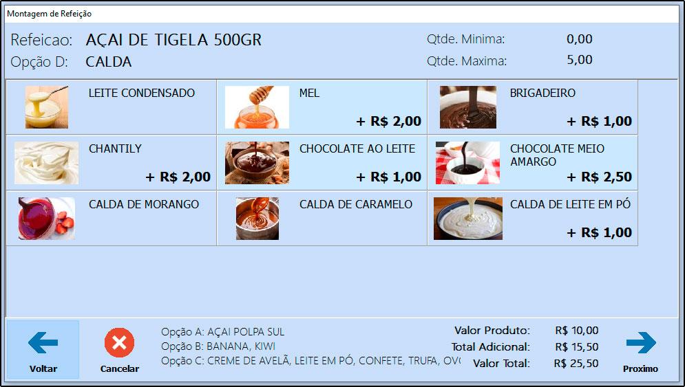 Como trabalhar com montagem de refeições no Futura Gourmet e Gourmet Mobile - FAQ53 (10)