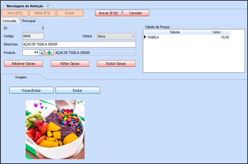Como trabalhar com montagem de refeições no Futura Gourmet e Gourmet Mobile - FAQ53 (3)