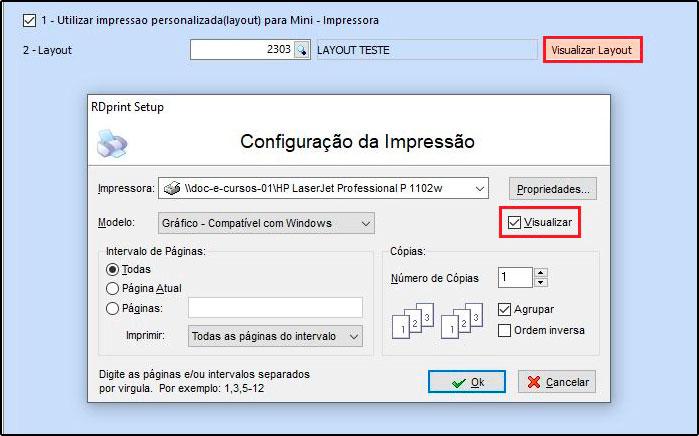 Como criar layout para impressão de pedidos na Mini Impressora – FAQ56 06