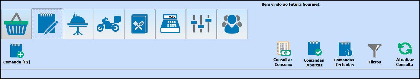 Principais botões da tela inicial do Futura Gourmet - FAQ58 (11)