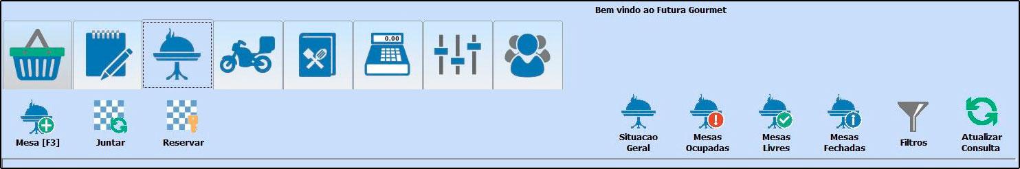 Principais botões da tela inicial do Futura Gourmet - FAQ58 (5)