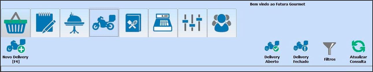 Principais botões da tela inicial do Futura Gourmet - FAQ58 (6)
