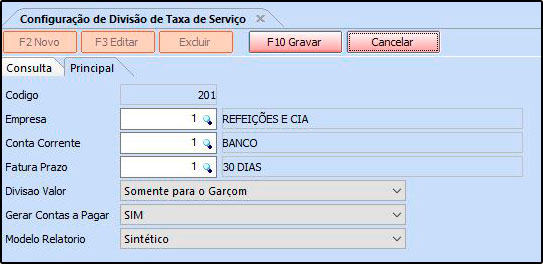 Como trabalhar com a rotina de Garçom e Geração de Comissão - FAQ64 (12)