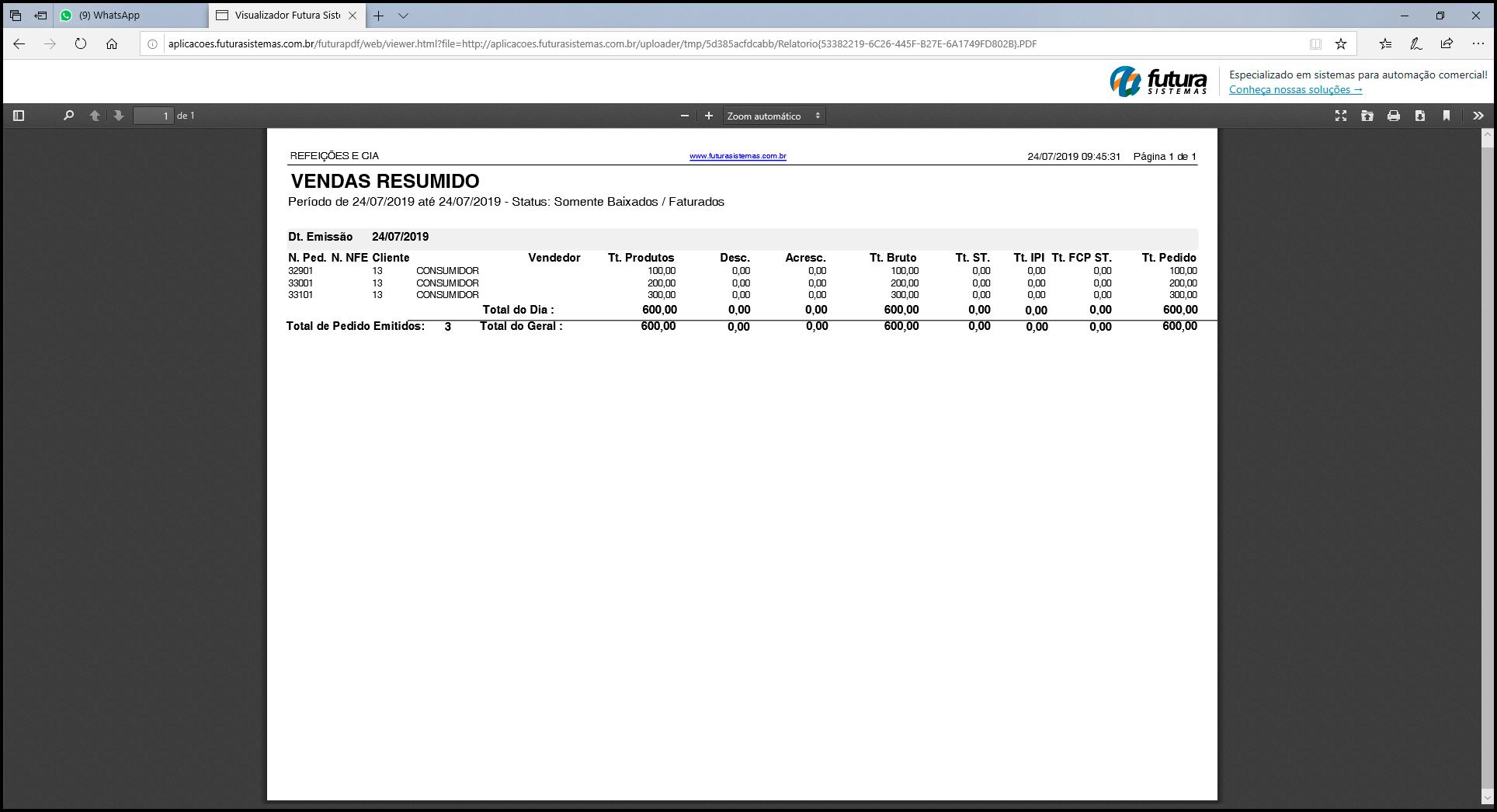 Ferramentas para enviar e exportar Relatórios 17