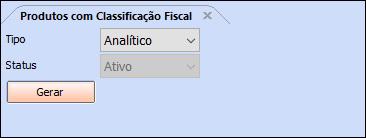 Relatório Produtos com Classificação Fiscal – FS236.3 01